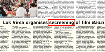 <p><strong>Daily Times</strong>, October 31, 2016</p>