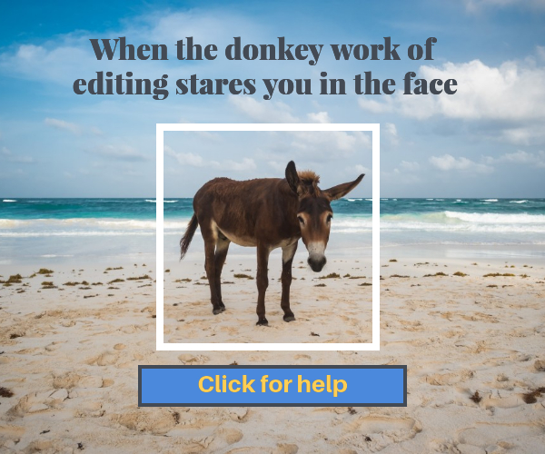Donkey work of editing