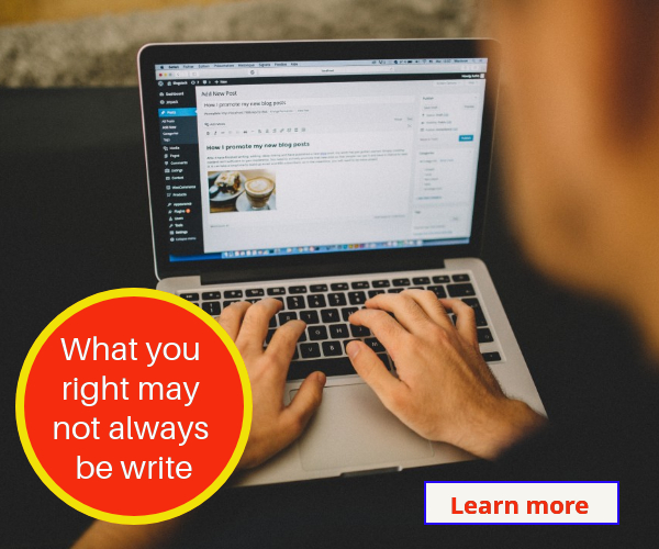 What you right may not write