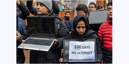 100 days of internet shutdown in Kashmir