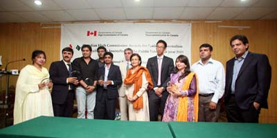 Canada awards for Pakistani journalists