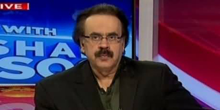 Dejected Shahid Masood bids farewell to electronic media