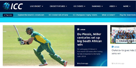 ICC launches all new website