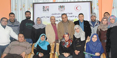 IFJ organizes trauma trainings for journalists in Gaza