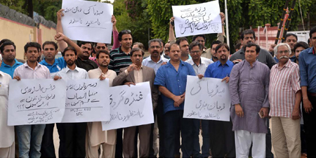Journalists protest violence against colleagues