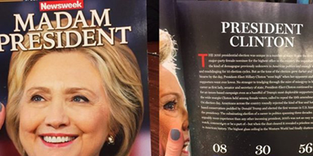 Newsweek errs, recalls 125000 copies of 'Madam President' issue