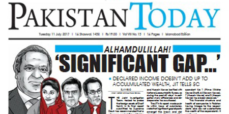 Pakistan Today tops with the most striking headline