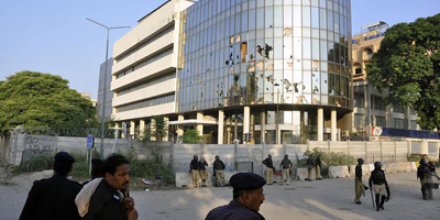 Protesters attack Geo offices in Islamabad