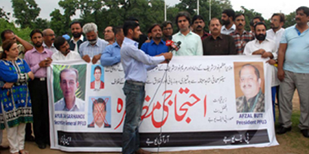 RIUJ protests against prime minister's son-in-law for insulting journalist