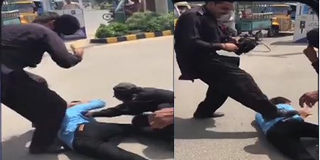 University guards beat up Samaa crew, damage news gathering van in Faisalabad