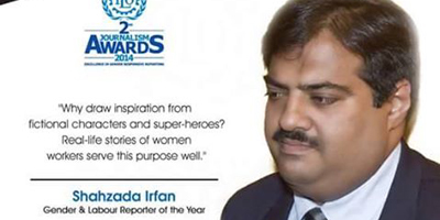 Irfan, Sahi win awards for excellence in gender responsive reporting