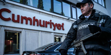 Turkey closes 15 media outlets, raids newspaper office, detains at least 12