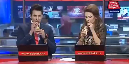 In a first, Abb Takk newscasters advertise juice brand during news bulletin