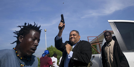 AP photographer injured as Haitian senator opens fire