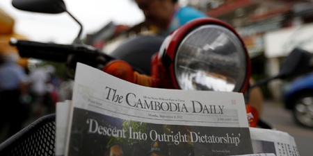 Cambodian paper shuts with 'dictatorship' parting shot