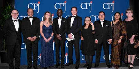 CPJ gala recognizes courageous journalists from developing democracies