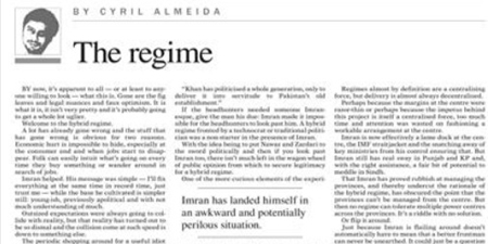 Cyril Almeida back on Dawn op-ed pages