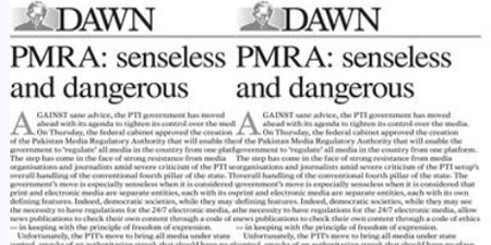 Dawn terms creation of PMRA senseless and dangerous