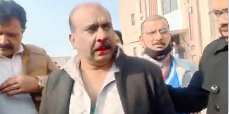Geo News cameraperson beaten up outside Islamabad court