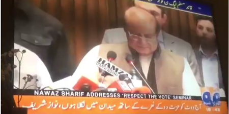 Geo, others mute parts of Nawaz Sharif's speech