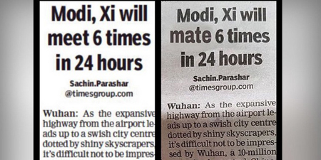 How embarrassing! 'Modi, Xi will mate 6 times in 4 hours'