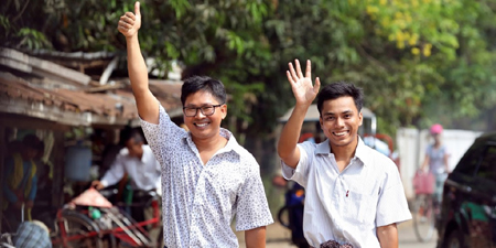 IFJ welcomes release of journalists Wa Lone and Kyaw Soe Oo