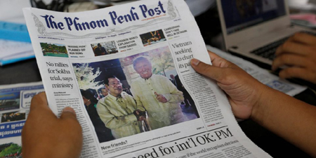 In Cambodia, questions about press freedom over newspaper sale