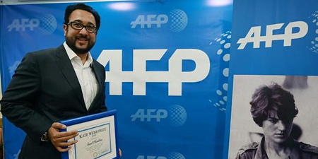 Journalist Asad Hashim receives AFP's Kate Webb Prize