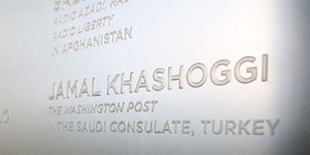 Memorial honors Khashoggi, other journalists slain in 2018
