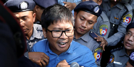 Myanmar police charge two Reuters reporters under Official Secrets Act
