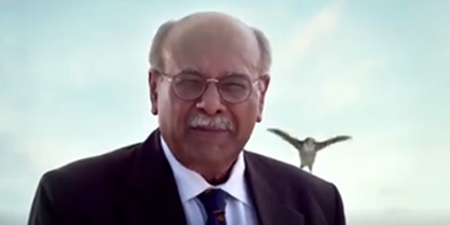 Najam Sethi back with a provocative promo