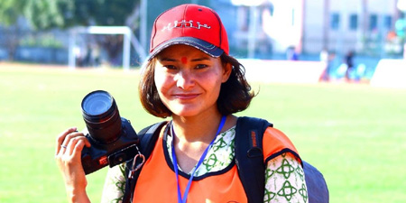 Nepali photojournalist arrested at protest outside president's office