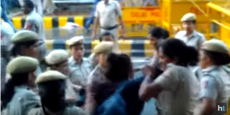 Police assault journalists covering demonstrations in Delhi