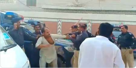 Police officials thrash 24 News cameraman