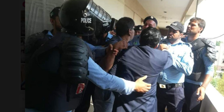 PUJ demands action against cops who attacked journalists