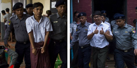 Reuters journalists charged under Official Secrets Act in Myanmar