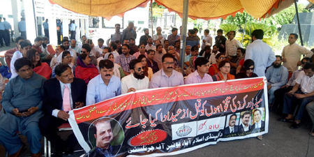 RIUJ stages protest over wages; NA discusses issue