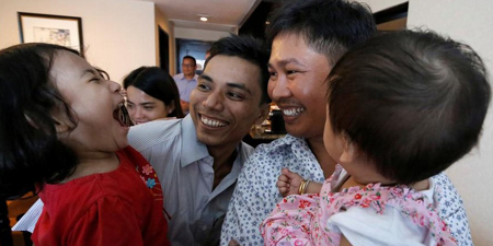 Two Reuters reporters freed in Myanmar after 500 days in jail