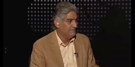 Waqt News shows Matiullah Jan the door