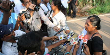 Wife of missing Sri Lankan journalist receives threats